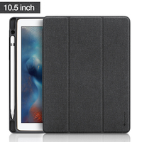 For IPad Pro 10 5 Case Leather PU Slim Smart Cover W Pencil Holder Wake