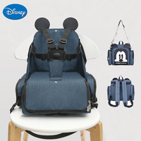 Disney Baby Dining Chair Seat Multifunctional Mommy Bag Feeding Highchair Portable Baby Eating Chair Safety Baby Chair Handbag
