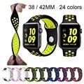 Faixa de Relógio pulseira de Silicone para A Maçã Pulseira 40 42mm mm 44mm para Apple iwatch Assistir Pulseira De Borracha banda 4/3/2 38mm Esporte Pulseiras