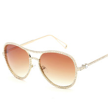 Fashion Women Shiny Sunglasses Luxury Design Pilot Glasses R