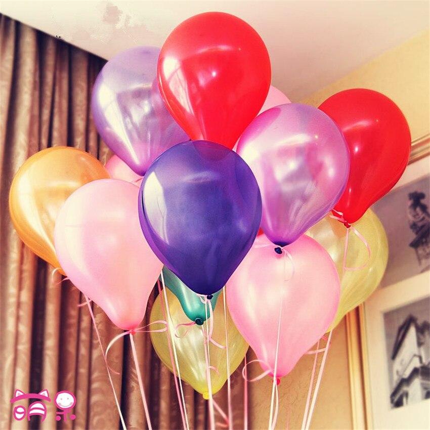 New 100pcs/lot 10inch 1.5g/pcs Latex Balloon Helium Thickening Pearl Celebration