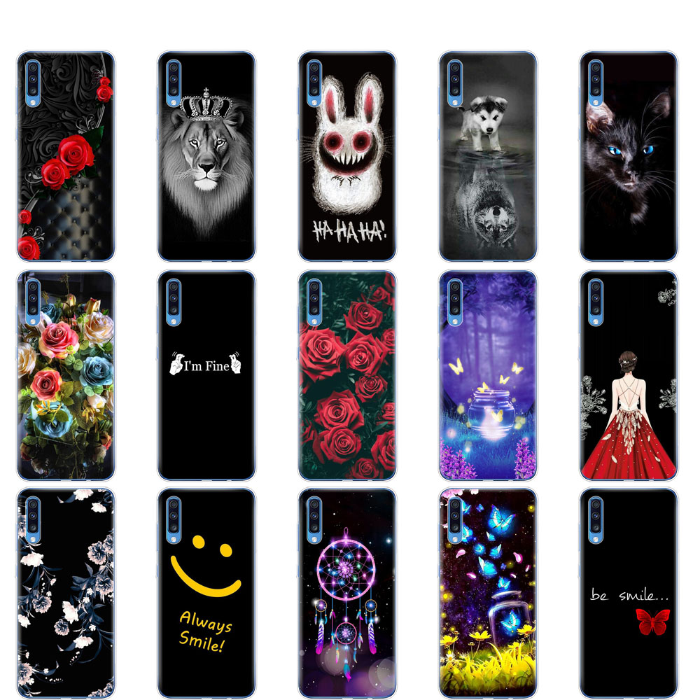 case For <font><b>Samsung</b></font> <font><b>A70</b></font> Case <font><b>2019</b></font> Soft silicone Phone <font><b>Cover</b></font> For <font><b>Samsung</b></font> Galaxy <font><b>A70</b></font> Coque Capa A 70 A705 A705F bumper image