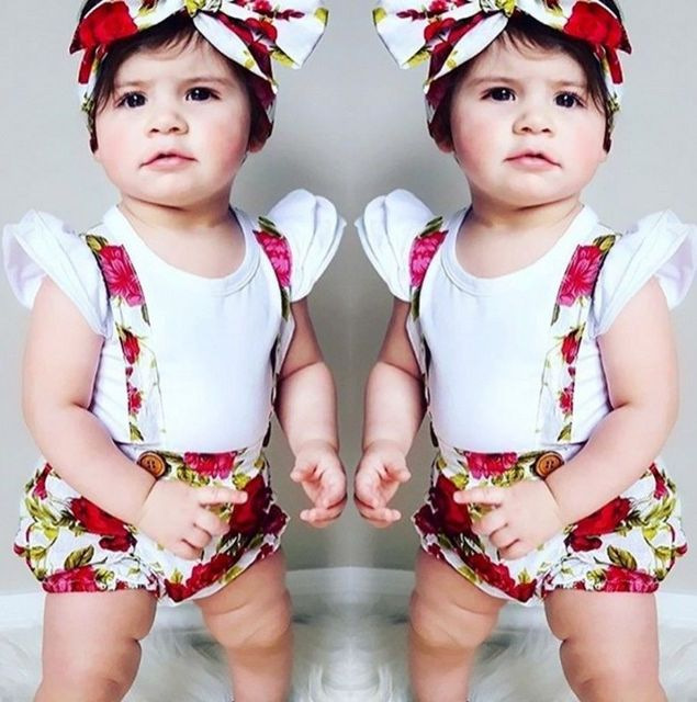 Cute Toddler Baby Kids Girls Shorts Overall Button Floral Short Headband  Summer Toddler Girl Shorts Clothes 43bf801274