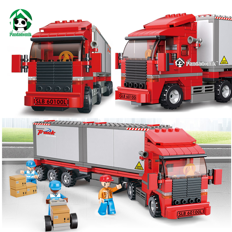 City Truck Building Blocks Container Car Constructor Set Educational Toys for Children Kids 6 years Toy Bricks Compatible lepin kids toys educational toys solar shaking toy for children physics science building blocks set solar toy box blocks bricks