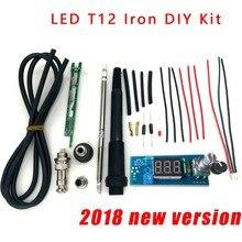 STC T12 لحام الحديد مجموعات لتقوم بها بنفسك/وحدة سبيكة لحام الرقمية محطة متحكم في درجة الحرارة أطقم/QUICKO STC LED T12 صغيرة لتقوم بها بنفسك مجموعات