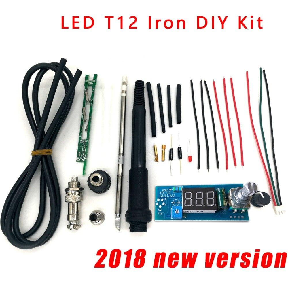 STC-T12 solder eisen DIY kits/Einheit Digitale Lötkolben Station Temperatur Controller Kits/QUICKO MINI STC-LED-T12 DIY sets