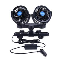 Dual Head Car Fan 12V/24V 360 Degree All-Round Adjustable Fans  Automobile Cooling Air