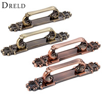 DRELD 2Pcs Antique Furniture Handles Zinc Alloy Door Pull Handle Vintage Drawer Cabinet Knobs And Handles