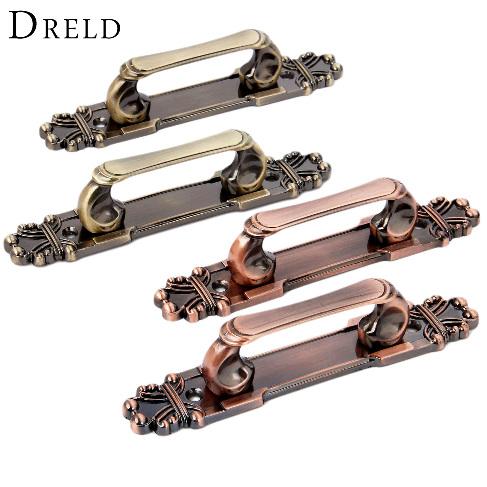 DRELD 2Pcs Antique Furniture Handles Zinc Alloy Door Pull Handle Vintage Drawer Cabinet Knobs and Handles Kitchen Furniture Knob