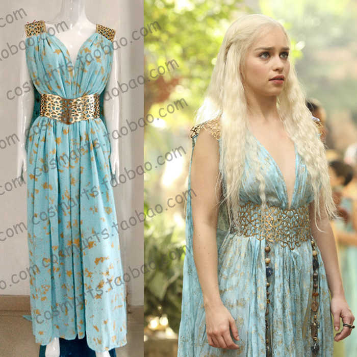 Game of Thrones Daenerys Targaryen Cosplay Womens Halloween Costume Fancy Dress