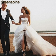 Robe Mariage 2019 Princess Off The Shoulder Wedding Dress Sweetheart Corset  Lace Top Beach Wedding Dresses a7a3fd96e3c9