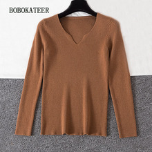 BOBOKATEER pullover sueter mujer invierno 2019 pull femme hiver christmas sweater women winter clothes turtleneck knitted
