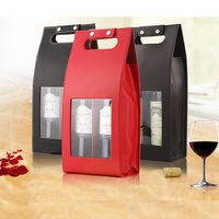 Free Shipping Custom Made Wholesale Direct Selling Wine Bags Of Wine Packaging Gift Boxes Red Wine