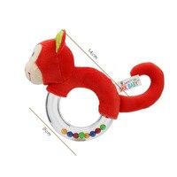 Baby Speelgoed 0-12 Maanden Dier Vorm Baby Rammelaar Hand Bells Leuke Varken Paard Olifant Aap Vroege Onderwijs Speelgoed voor Pasgeborenen 3