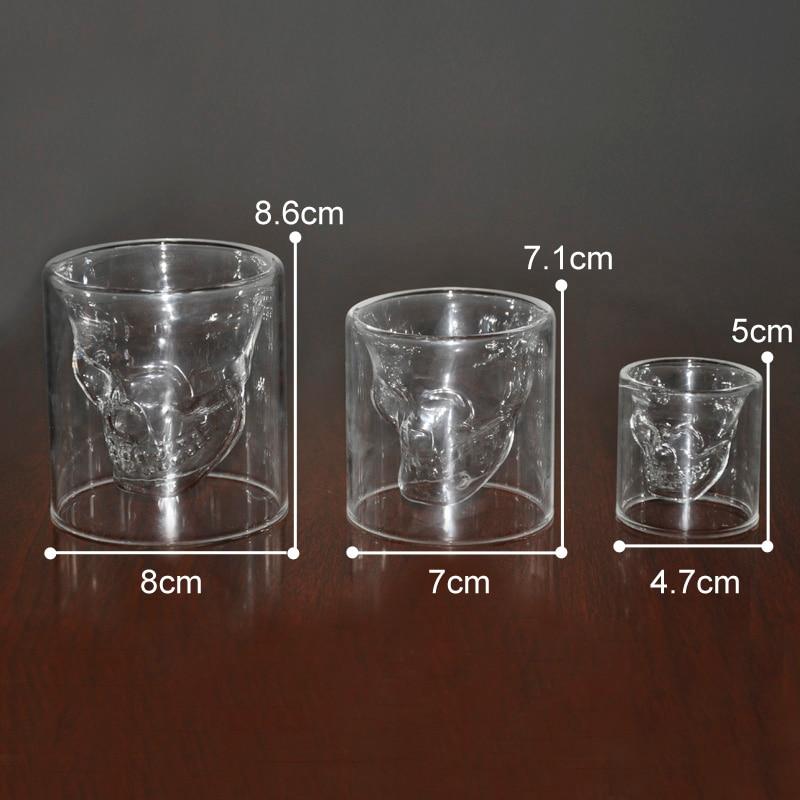 3 veličine Dva načina Shot Prozračni kristalni lubanje Glava - Kuhinja, blagovaonica i bar - Foto 4