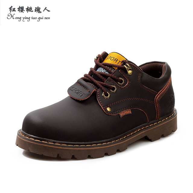 Winter Spring Autumn Men Ankle Boots Genuine Leather Shoes Men