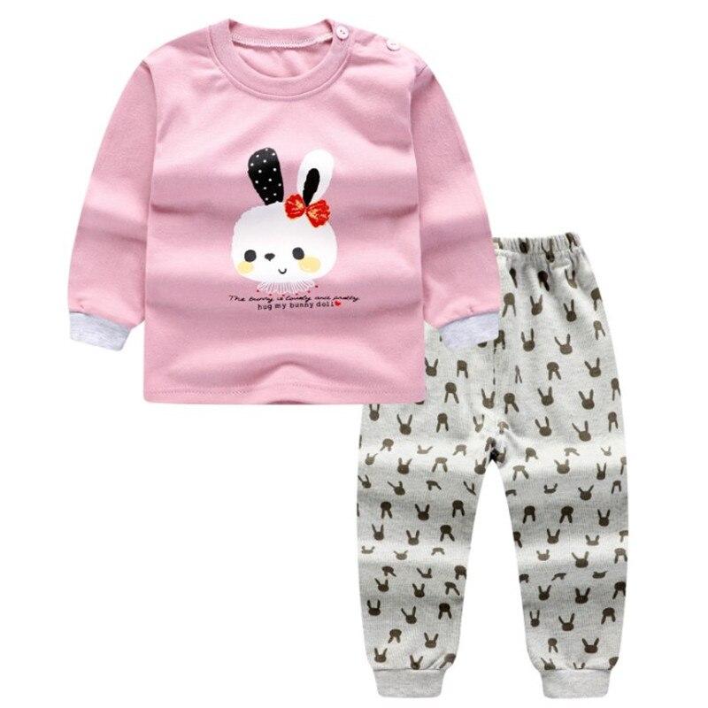 100% cotton Baby Clothing Set Boys Girls Clothes Long Sleeve T-shirt + Pants 2pcs Suit Newborn Cartoon Clothing Set sleepwear
