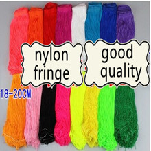 5Yds/Lot 18-20CM High Density Nylon Tassel Fringe Trimming Lace For Latin Dance Dress Accessories Diy More Color Can Wholesale