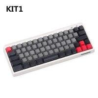 black pbt blank mechanical keyboard filco minila air thick pbt side printed top printed keycaps cherry mx oem profile