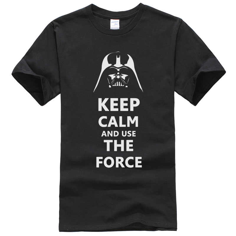 f6ba041822 Star Wars Darth Vader T Shirt Men Funny Design Keep Calm and Use The Force  Pattern