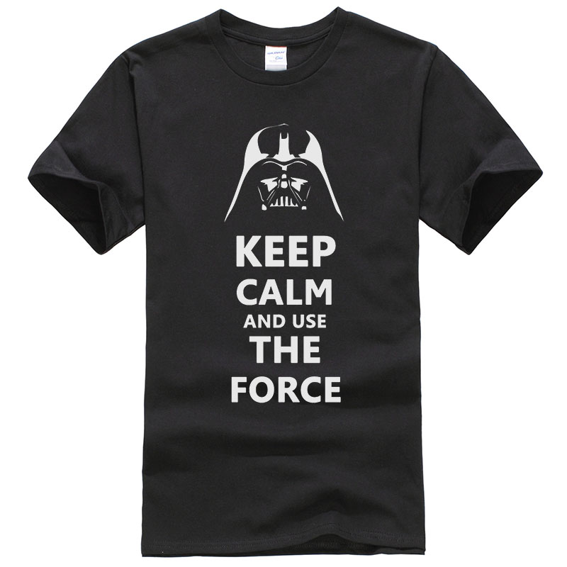 Star Wars Darth Vader   T     Shirt   Men Funny Design Keep Calm and Use The Force Pattern Tee Cotton Summer   Shirts   Tee Male T178