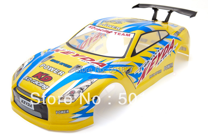 rc parts shell body 1/10 Radio Control Car  Nissan Skyline GTR Body Shell 190mm Gold free shipping radio-controlled car