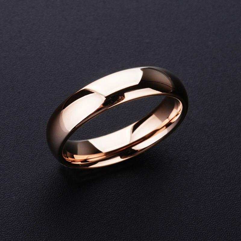 Modă nouă 3.5mm / 5mm Auriu Placaj Auriu Inele Tungsten Inel - Bijuterii de moda - Fotografie 3