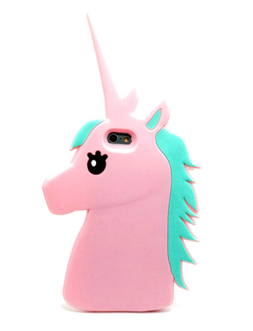Soft Pink Fashion 3D Little Pony Unicorn Protect Silicon