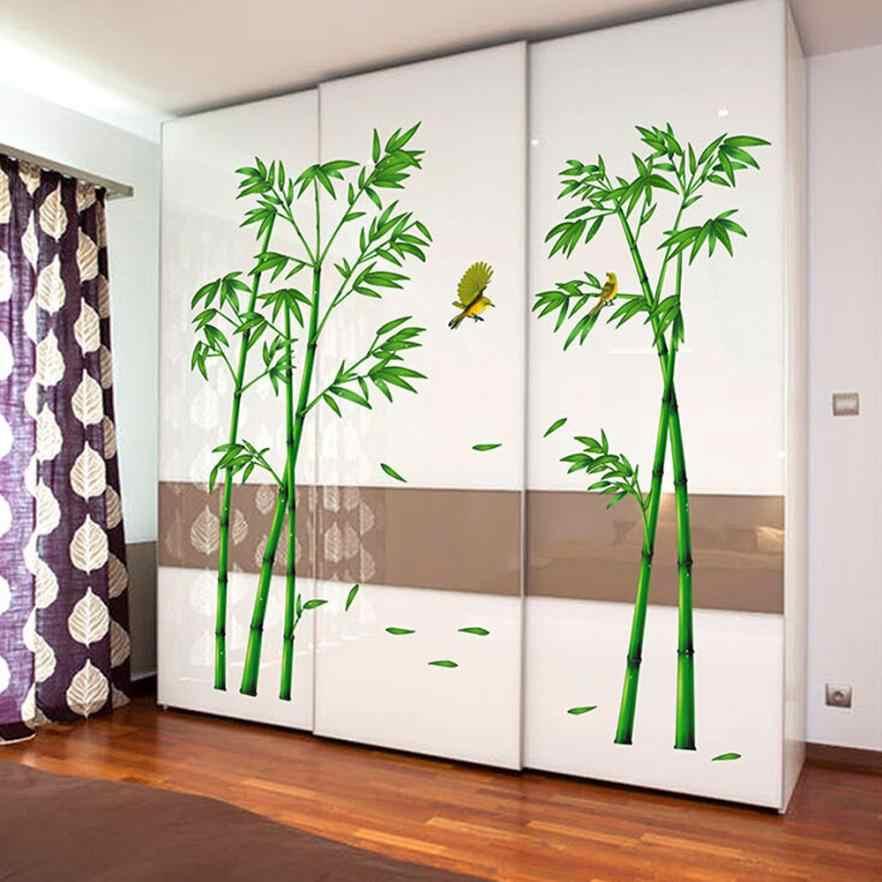 Глубокий бамбуковый лес 3D стены стикеры Гостиная ТВ задний план украшения китайский стиль DIY Съемный Happy Sale
