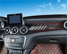 1PCS Carbon Fiber ABS Car interior Dashboard Cover For BENZ CLA Class W117 200 220 260 180 2014 2015 2016 2017