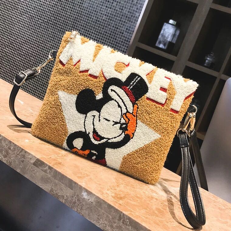 Mickey Handbag Cute Female Shoulder Bag For Women 2019 New Ladies Crossbody Bag Pu Leather Clutch Envelope Bag Bolsa Feminina