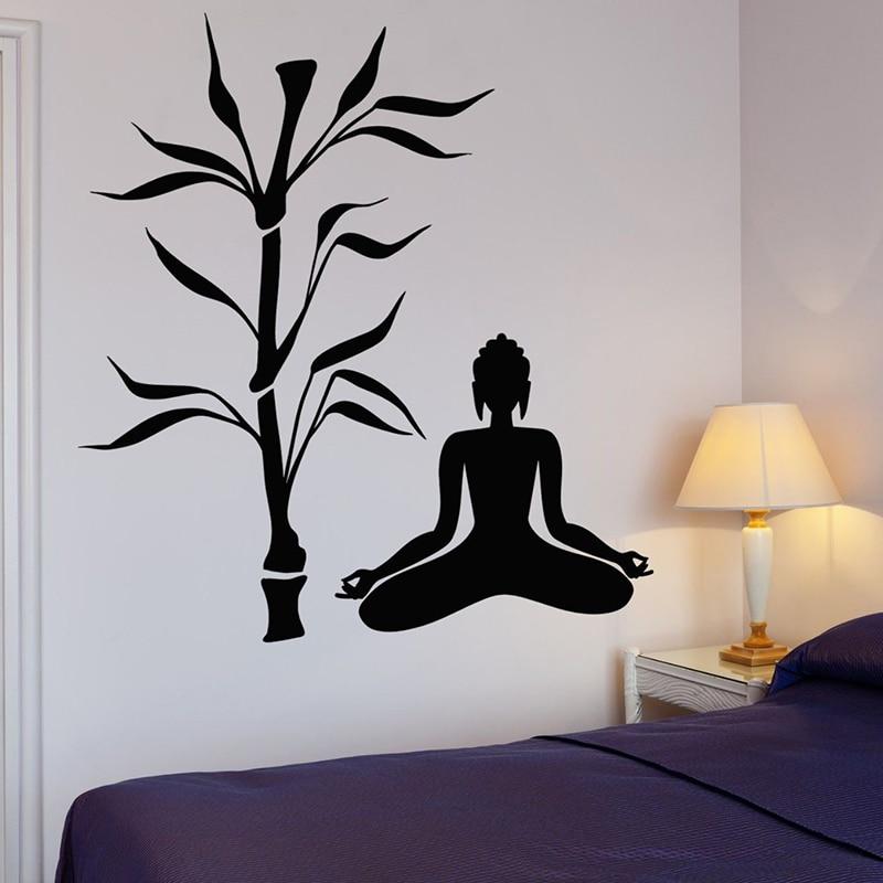 Буддийское дерево, настенные наклейки, Йога, буддизм, медитация, настенные Стикеры для йоги, студии, релаксация, искусство детской стены, рос...