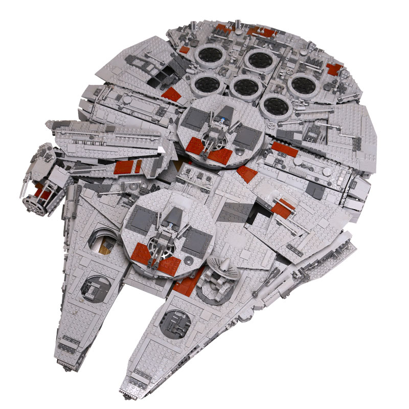 LEPIN 05033 Star Ultimate Wars Collector's Millennium Model Falcon Building Kit Blocks Bricks Toy Gift Compatible legoe 10179 lepin 05035 star wars death star limited edition model building kit millenniums blocks puzzle compatible legoed 75159