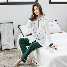 Women Pregnancy Pajamas Maternity Long Sleeve Cotton Sleepwear Pregnant Nursing Clothes Sets Pregnancy Nightgown Drop shipping