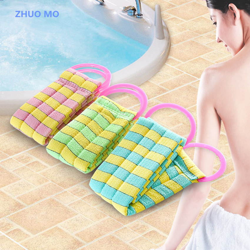2Pcs New Arrival Long thick bath sponge Pull Back Strap rubbing back massage bath Towel Massage Sponge Shower articles