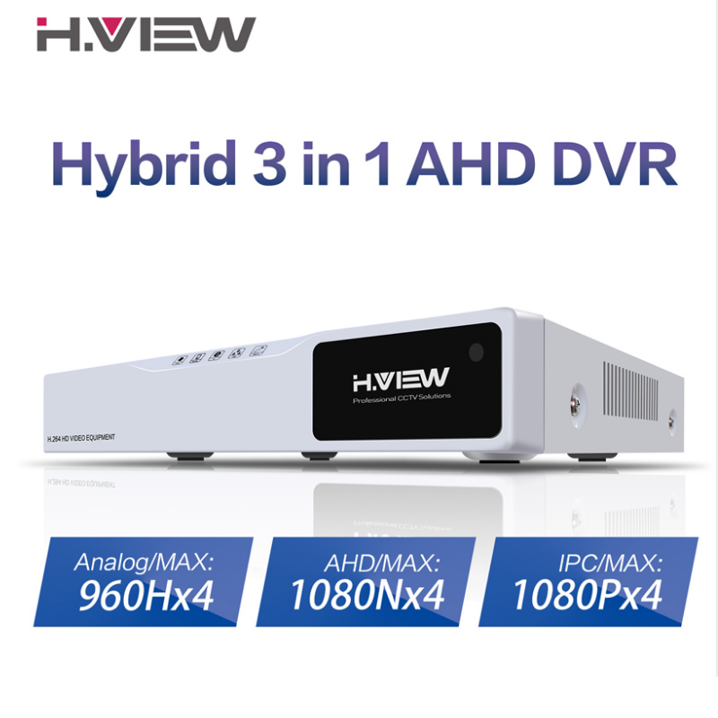 H.VIEW 1080P CCTV DVR 4CH H.264 AHD DVR NVR 4CH Digital Video Recorder for CCTV Support Analog AHD IP Camera Video Surveillance smar 5 in 1 hybraid ahd dvr 4ch security cctv nvr h 264 video recorder cctv dvr system support 3g wifi storage for free