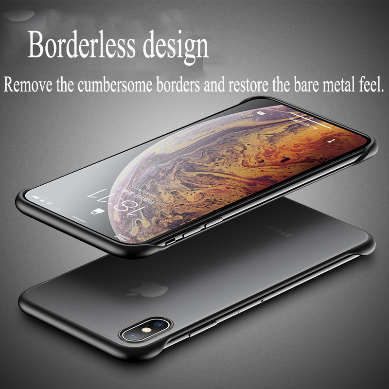 Ring buckle iPhoneXSmax borderless phone case transparent ultra-thin apple XR matte silicone iPhone7 / 8plus protective shell