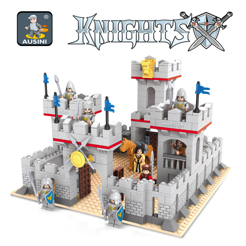 686 pcs Medieval Castle Compatible knights Soldiers Figures Sets Building Blocks Bricks Educational Toys For Children