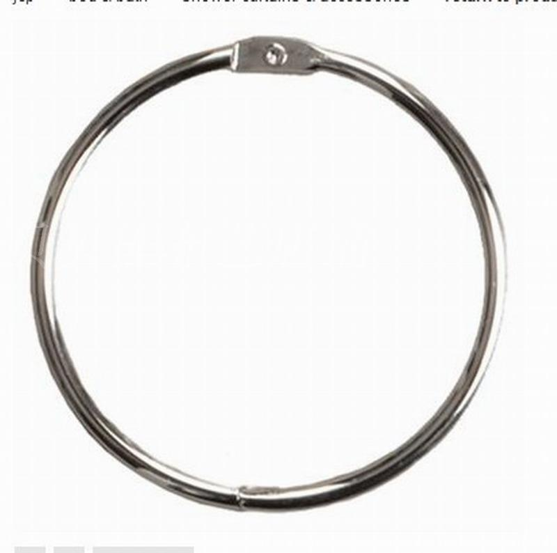 12pcs/lot Fashion Silver Stainless Steel Shower Curtain Ring Curtain  Accessories Diameter Of 40mm(