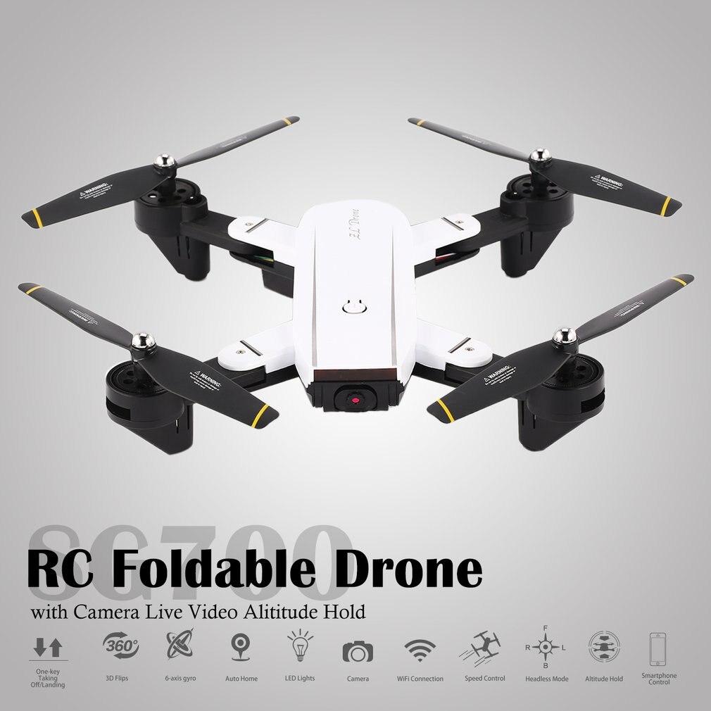 Drone quadrirotor pliable SG700 2.4G RC avec caméra FPV Alititude vidéo en direct maintien Mode sans tête une clé retour 360 Mode Flip