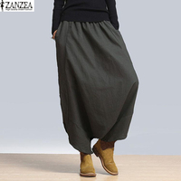 S 5XL ZANZEA Women High Waist Loose Casual Harem Pants Hip Hop Yoga Long Pants Wide
