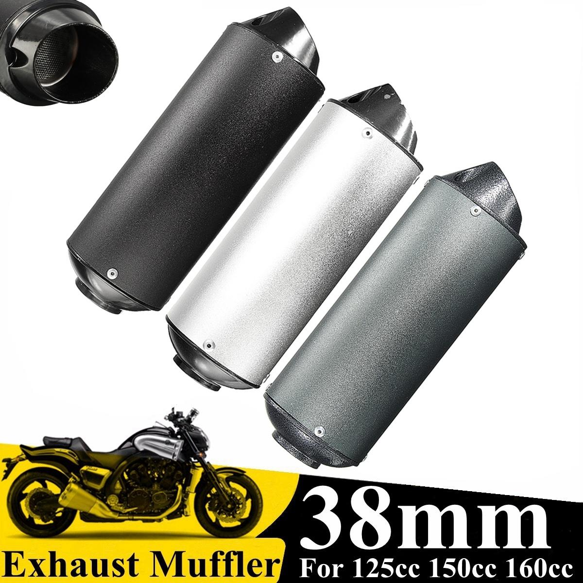 38mm Motorcycle Motorbike Exhaust Muffler Pipe Aluminium Alloy 3 Style Exhaust For 125cc 150cc 160cc Dirt Pit Bike ATV waterproof digital lcd counter hour meter for dirt quad bike atv motorcycle snowmobile jet ski boat pit bike motorbike marine