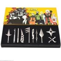 10pcs/set Metal Toy Sword Naruto Kunai Throwing Set Knife Mini Mini Naruto Weapon Toys Cosplay Weapons