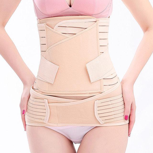 cc8e8c3765f 3in1 Women Postpartum Recovery Belly Waist Pelvis Belt Support Band Body  Shaper Maternity Girdle Waist Trainer Corset Shapewear