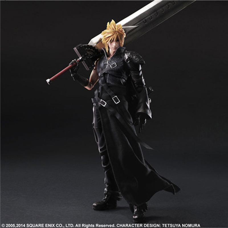 High 27CM AC Final Fantasy VII Advent Cloud Strife FF7 PVC Collection Model Anime Hobbies Action Toy Figures Toys For Children