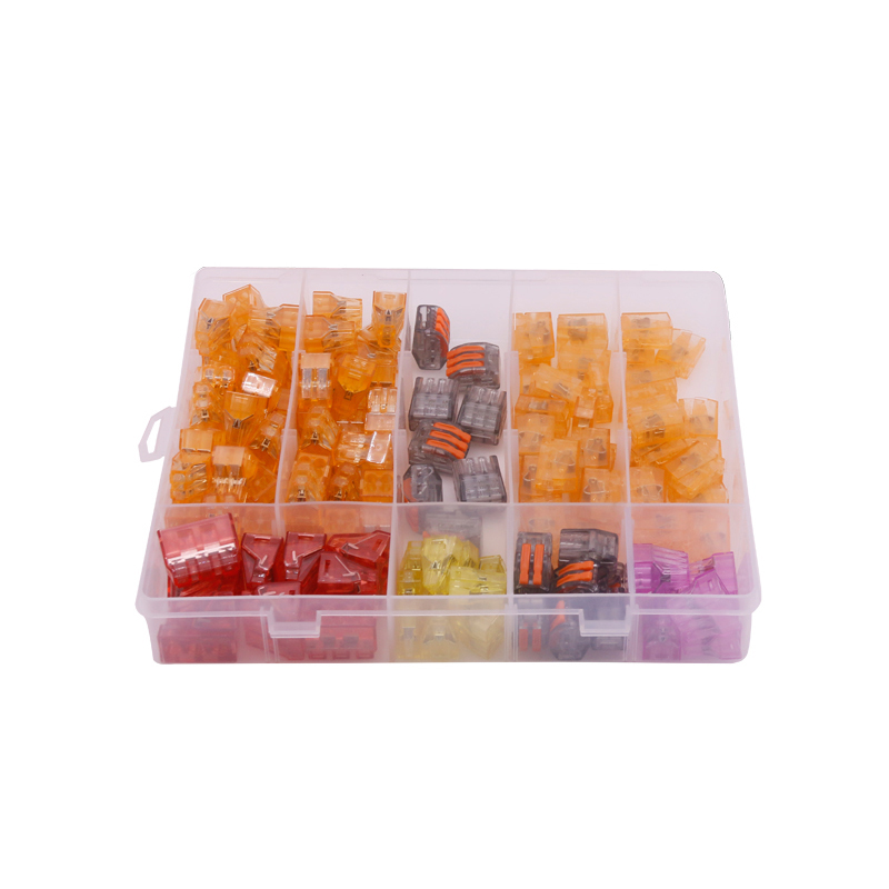 Good Quality 144 Pcs/Box 7 Types Insulated Ferrule Terminals Cage Spring Universal Compact Connector Terminals 660v ui 10a ith 8 terminals rotary cam universal changeover combination switch