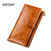 2017 New Women Wallets Genuine Leather High Quality Lady Wallet Long Design Clutch Cowhide Woman Purses