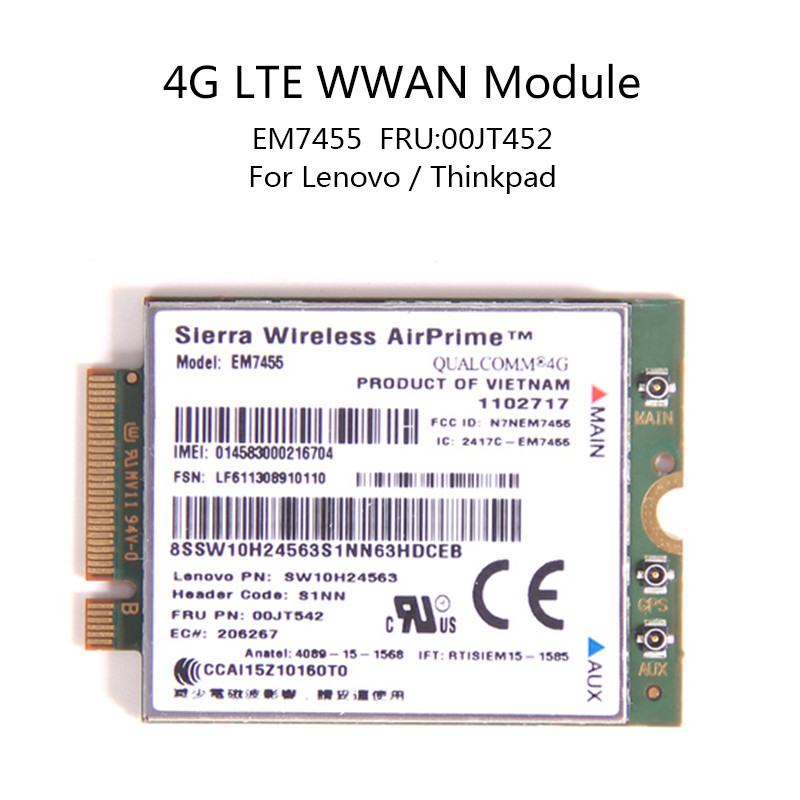Genuine Unlocked Sierra AirPrime MC7710 LTE/HSPA+ 4G 3G module Mini PCI-E  WWAN Wireless Card 800/900/2100MHz