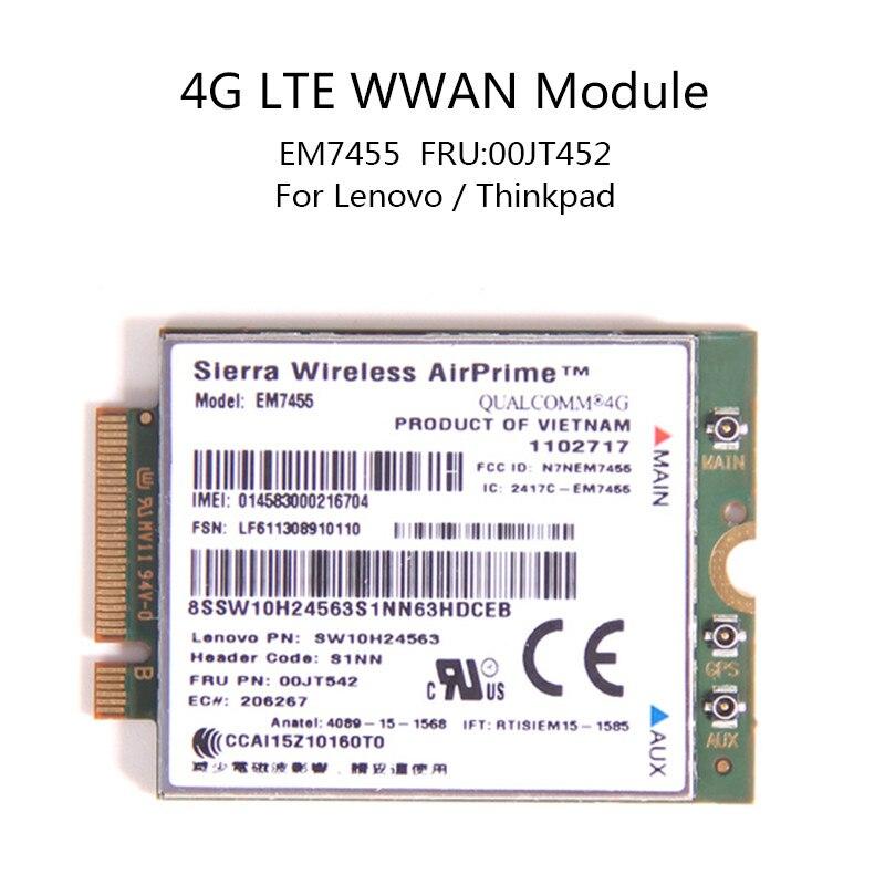 Para Lenovo X260 T460 P50 P70 L560 X1 Carbono EM7455 GOBI6000 4g LTE QUALCOMM WWAN Sierra Wireless Airprime Módulo IBM FRU: 00JT542