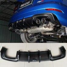 S3 углеродного волокна заднего бампера для губ Диффузор Подходит для Audi S3 S линии~ сзади губ стайлинга автомобилей авто модифицированные аксессуары